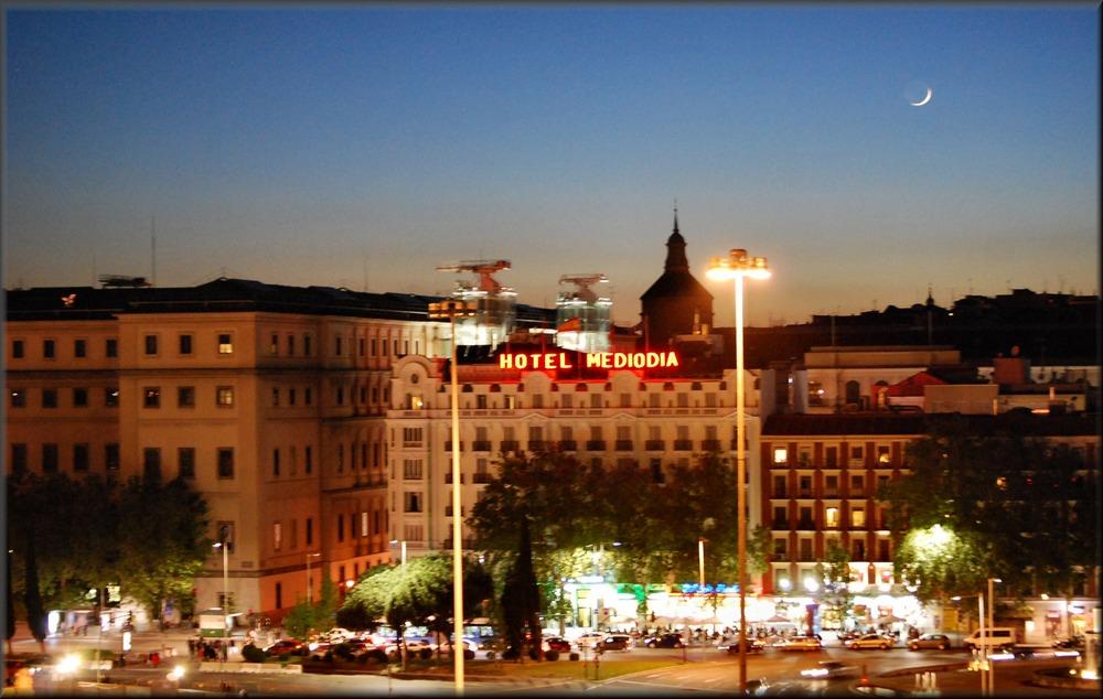 Atocha Plaza by night