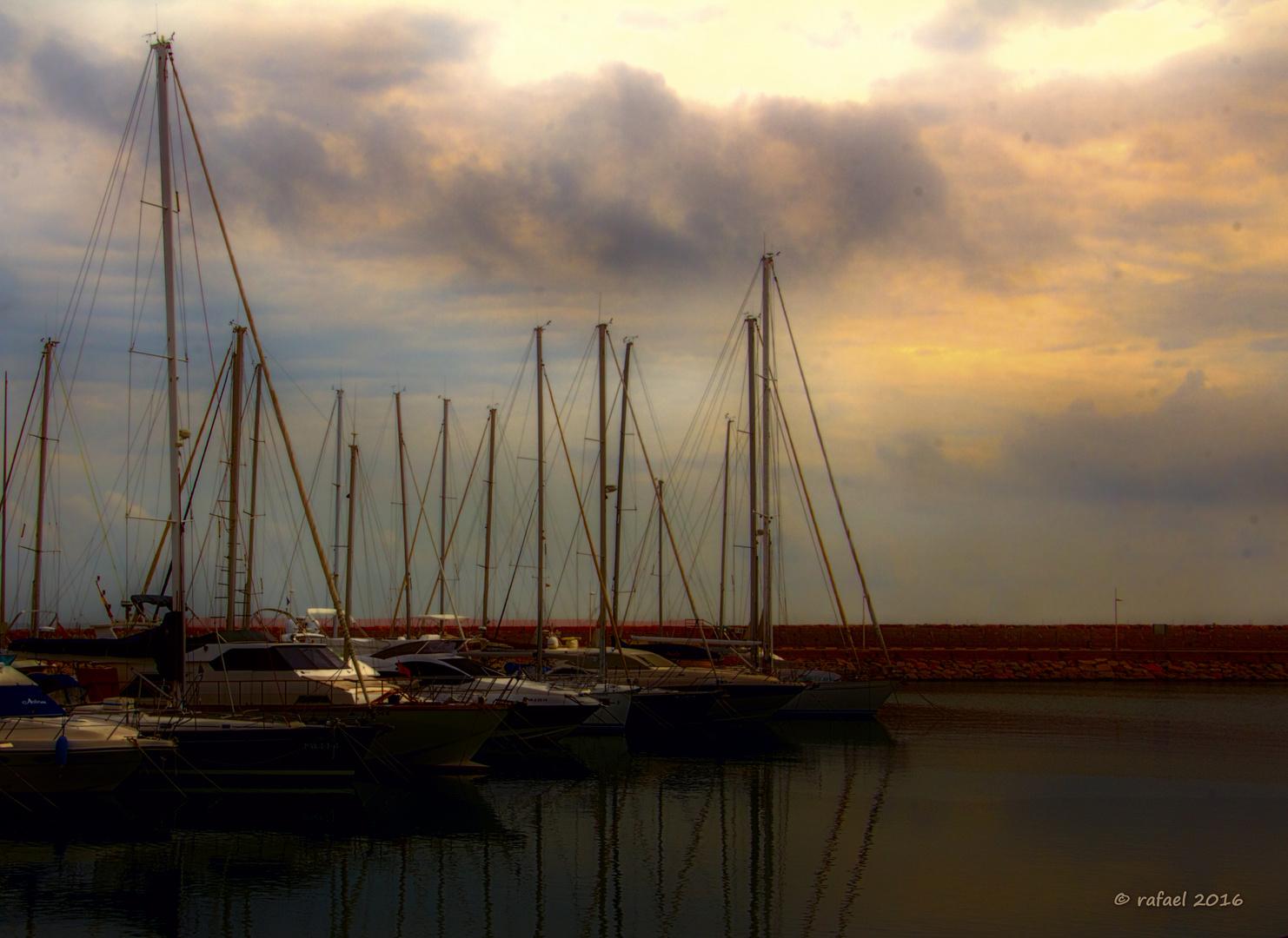 Atracados en el puerto