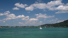 Attersee mit Boot
