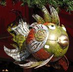 Attraktiver Kugelfisch auf dem Kölner Weihnachtsmarkt