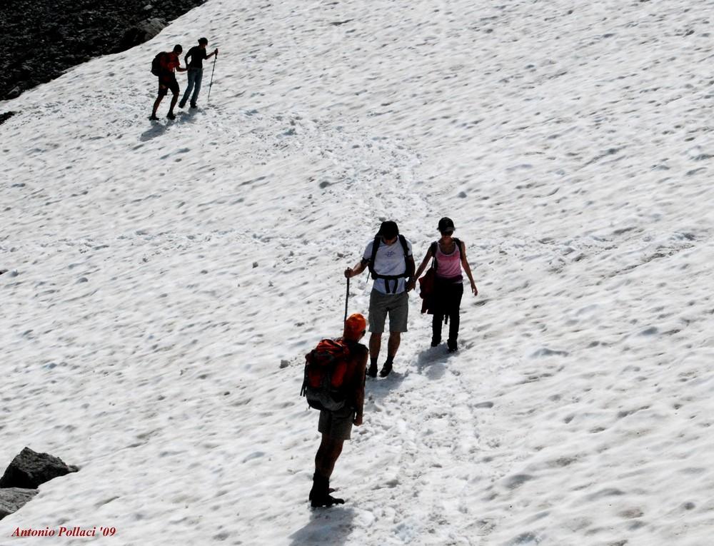 attraversando il ghiacciaio