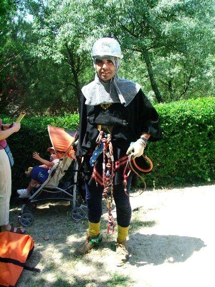 atuendo de escaladores medievales