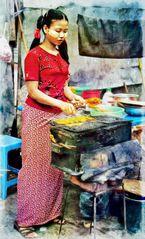 Au marché de Rangoon