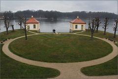 Auch der Schlosspark ...