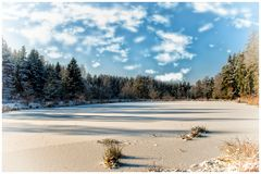 Auch der Winter ist schön am  Triebischsee