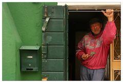 Auch die Menschen in Burano sind bunt