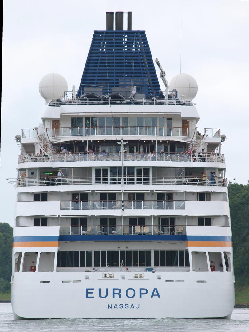 Auch ein schöner Rücken kann ............. , Kreuzfahrtschiff EUROPA