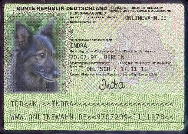 auch hunde müßen sich ausweisen ;-)))