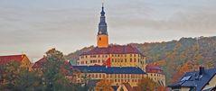 Auch im Müglitztal bei Schloss Wesenstein gab es Nebelschwaden...