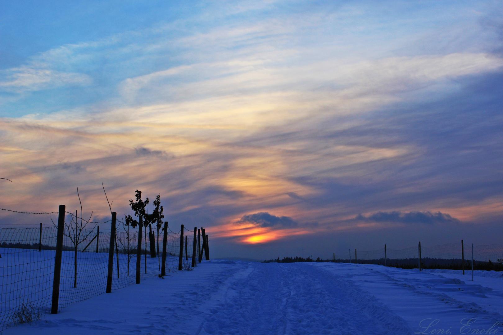 Auch im Winter geht die Sonne unter - nur früher.
