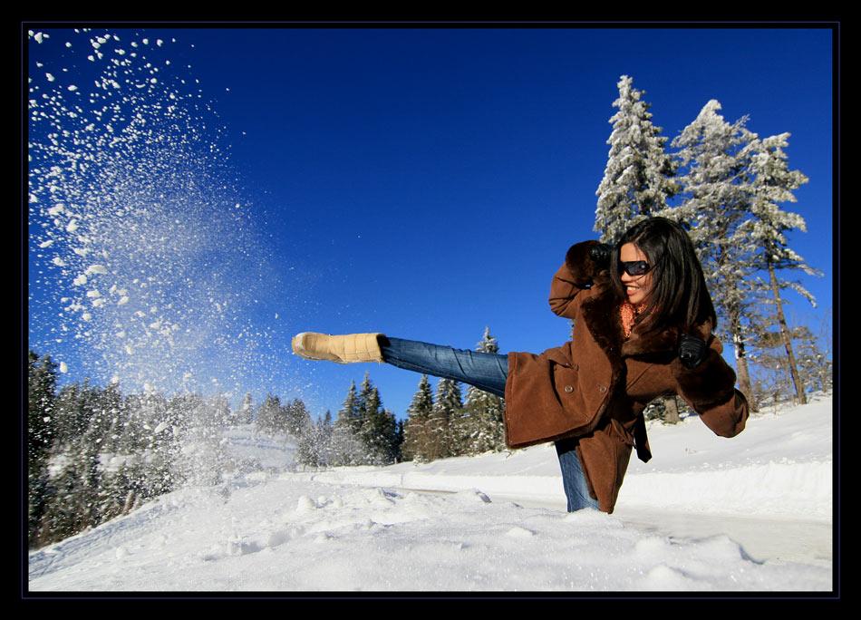 Auch im Winter wird gekämpft ;-)