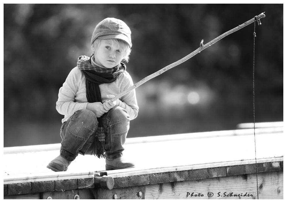 Auch mit einem kleinen Haken kann man große Fische fangen...