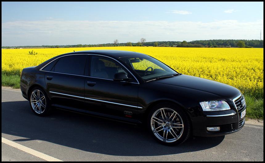 Audi A8 am Rapsfeld