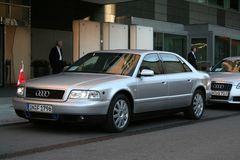 Audi A8 gepanzert.