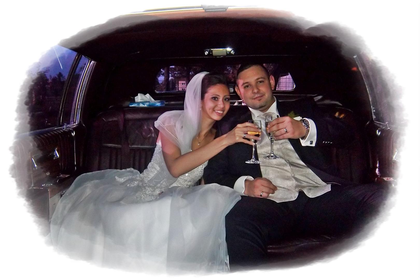 Auf das Brautpaar