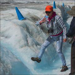 auf dem athabasca gletscher