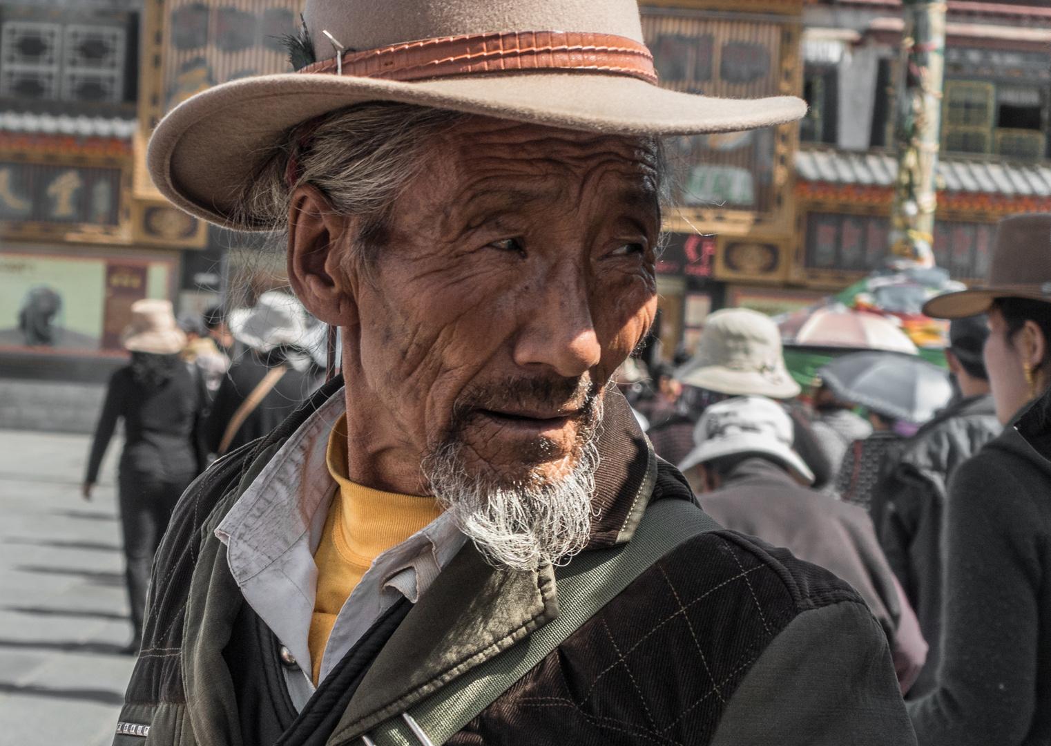 Auf dem Barkhor in Lhasa, Tibet