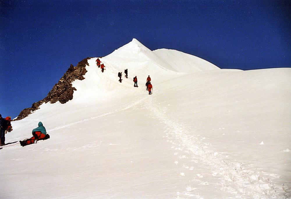 Auf dem Breithorn 1998