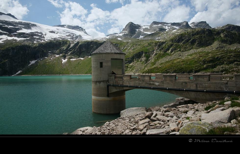 auf dem Damm - Weissee