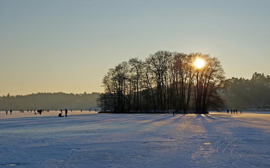 Auf dem Eis des Groß-Glienicker Sees, 11.01.09 – 01