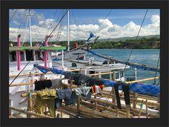 Auf dem Fischerboot leben