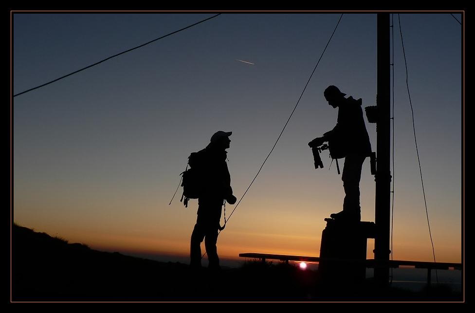 Auf dem Gipfel des Hirschbergs (1.670m)