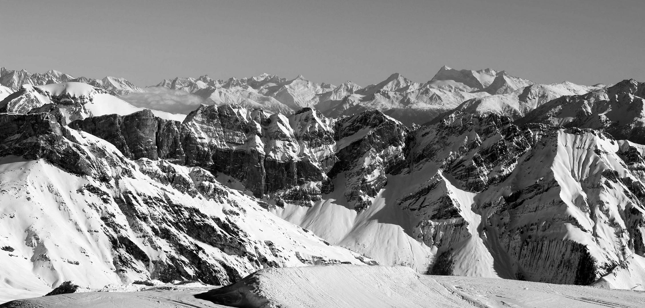 Auf dem Glacier 3000