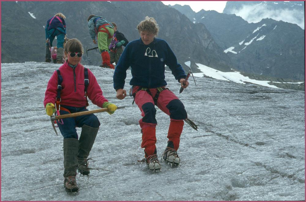 Auf dem Gletscher......