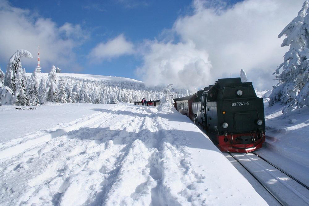 Auf dem Goetheweg zum Brocken im Winter Oberharz