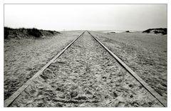 Auf dem Kniep (11): das Gleis ...