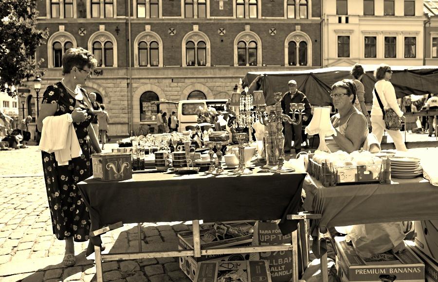 Auf dem Markt ....