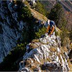 Auf dem Ostgrat zum Traunstein- Gipfel  (1691m)