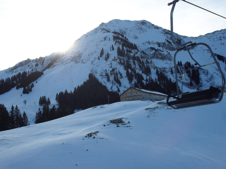 auf dem Skilift
