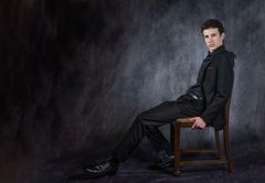 Auf dem Stuhl