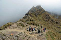 Auf dem Warmiwanusqua-Pass in 4200 m Höhe