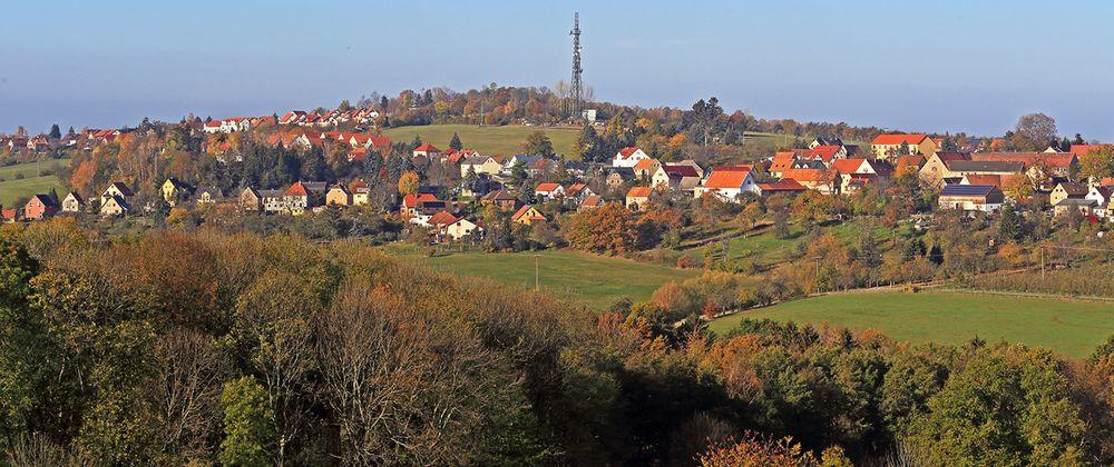 Auf dem Weg aus dem Elbtal hoch in das Osterzgebirge...