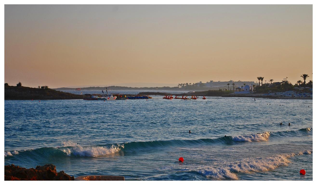 Auf dem Weg den zyprischen Sonnenuntergang einzufangen..