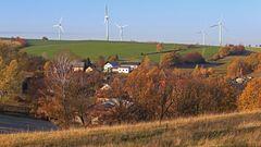 Auf dem Weg im Osterzgebirge nach Glashütte, als über dem Elbtal...
