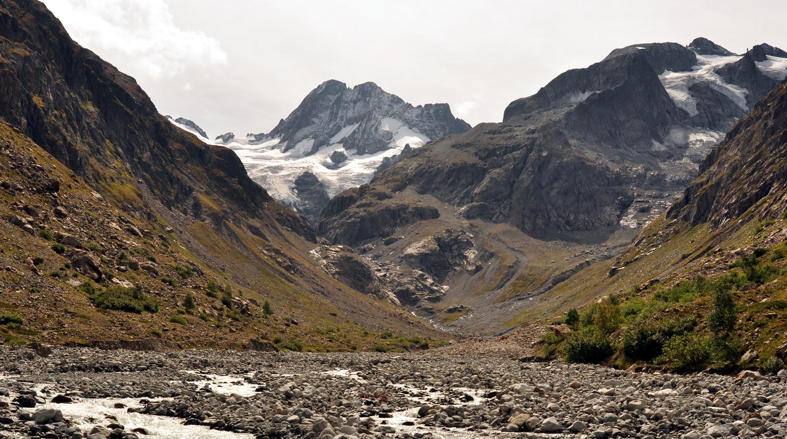 Auf dem Weg zum Gletscher ...