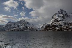 Auf dem Weg zum Trollfjord, Lofoten April 2019