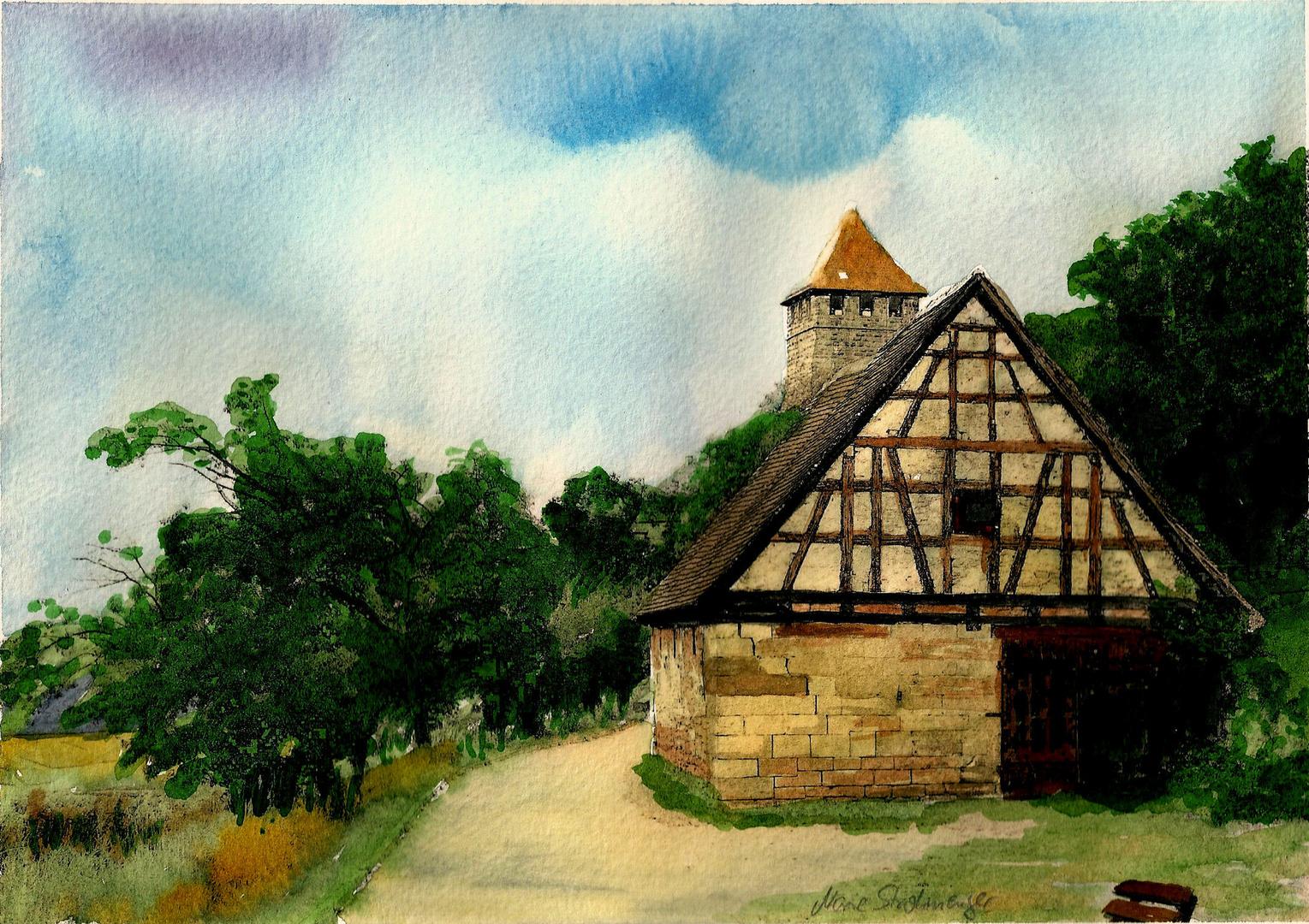 Auf dem Weg zur Burg Lichtenberg