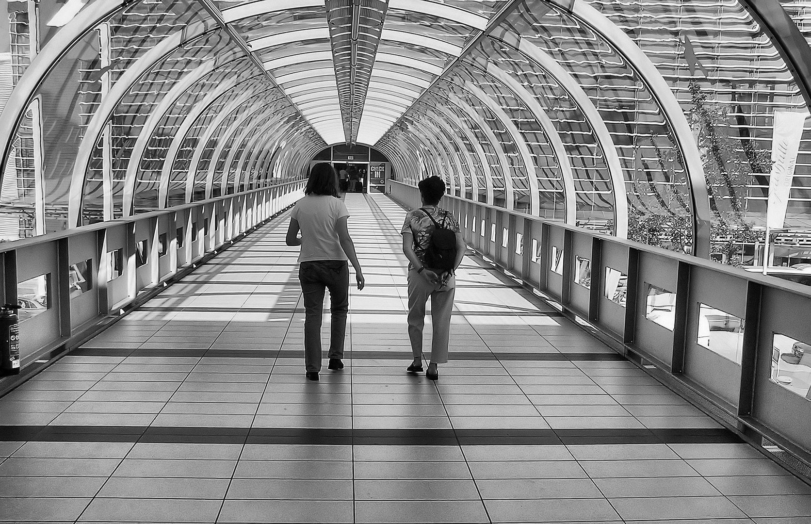 Auf dem Weg zur Gangway