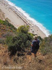 Auf dem Weg zur Mylos-Bucht bei Aghios Nikitas