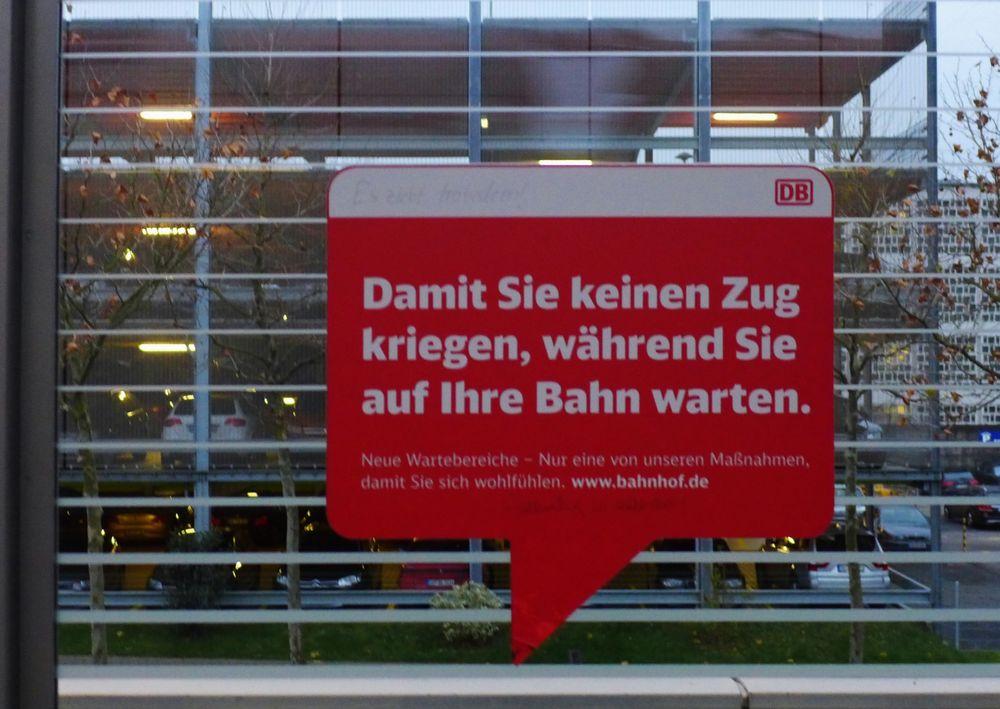 """... auf dem """" zugigsten """" ICE - Bahnhof Siegburg"""