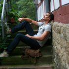 Auf den Stufen ...