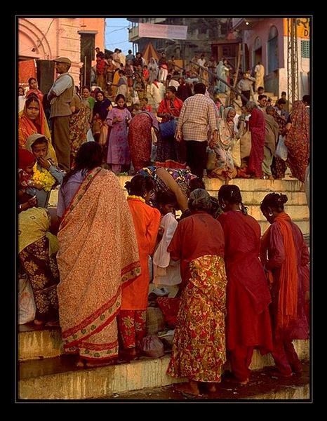 auf den Stufen zum Ganges...