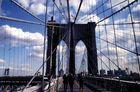 Auf der Brooklyn Bridge
