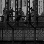 Auf der Brücke ...