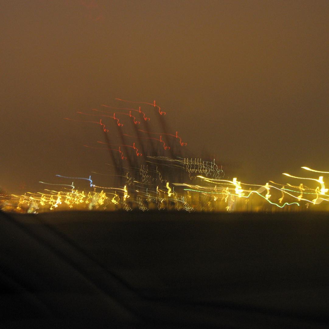 Auf der Elbe nachts um halb eins ....