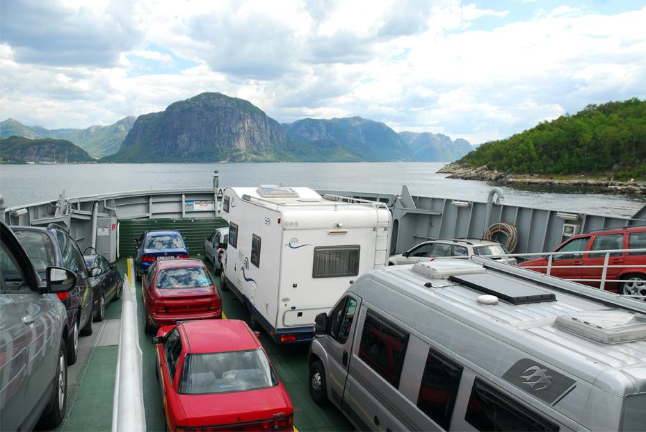 Auf der Fähre vor Oslo